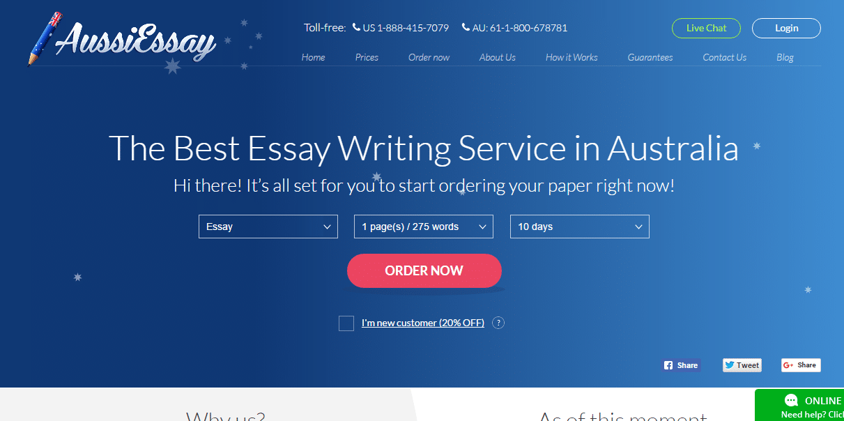 Essay writing service sydney