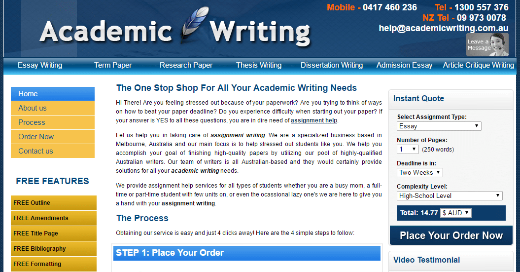 academic writing australia